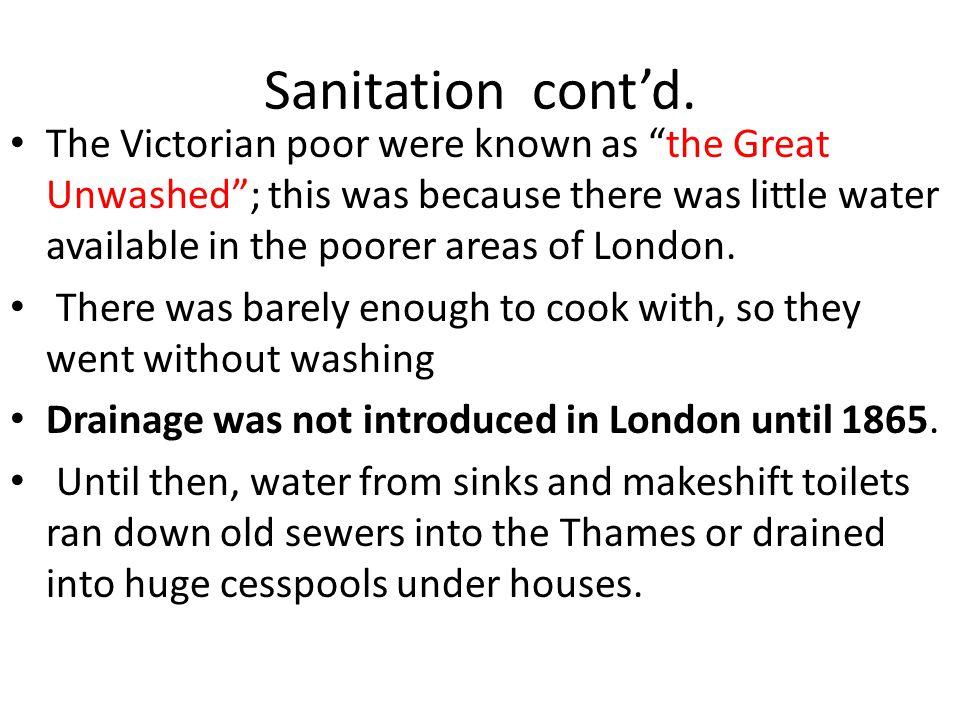 Sanitation cont'd.