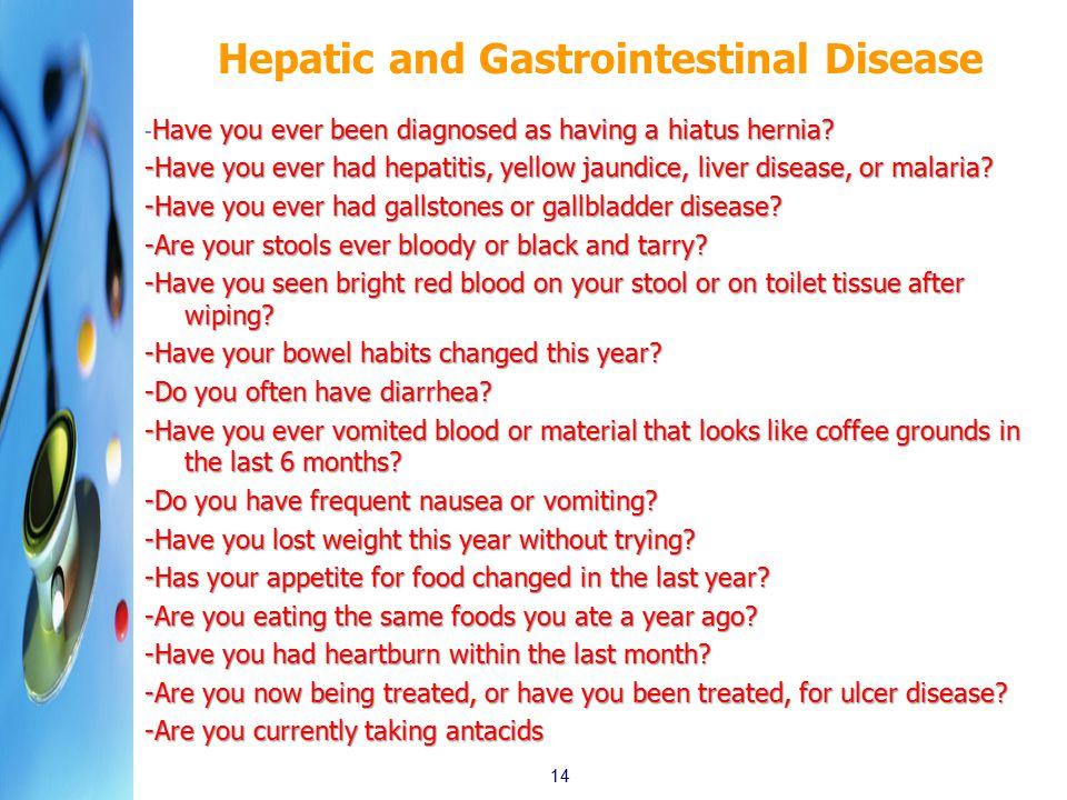 Hepatic and Gastrointestinal Disease