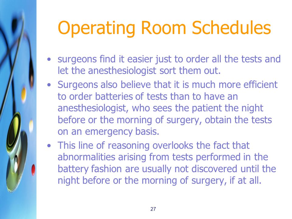 Operating Room Schedules