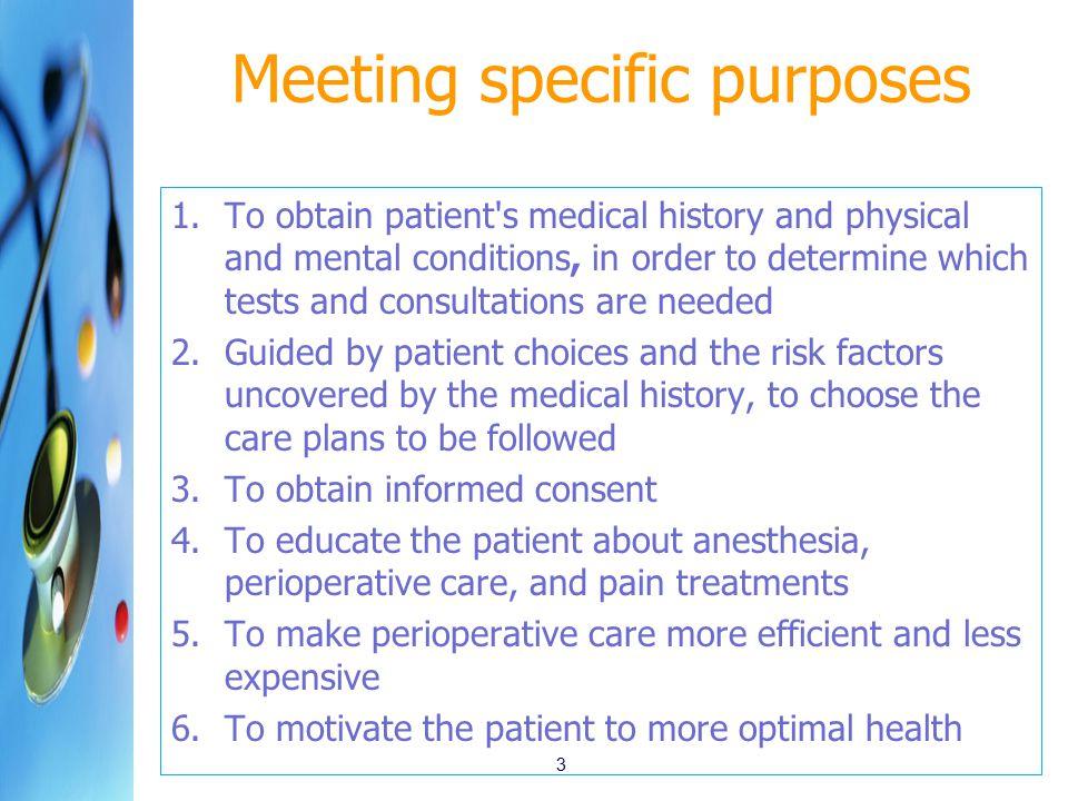 Meeting specific purposes