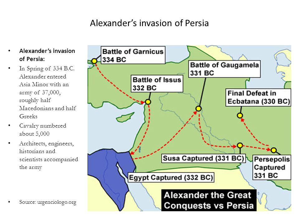 Alexander's invasion of Persia