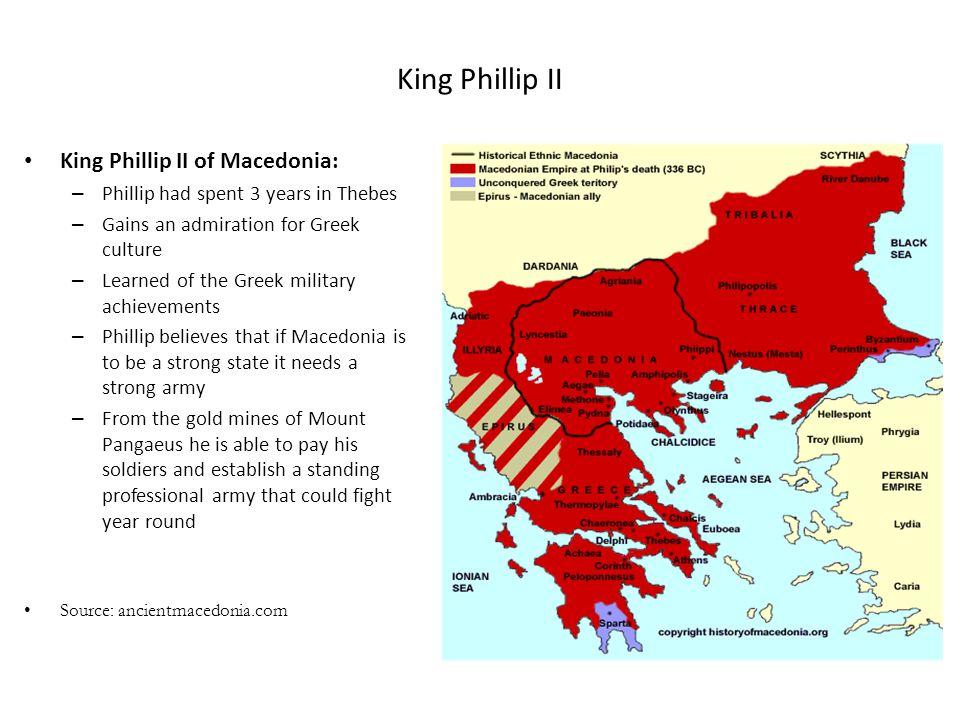 King Phillip II King Phillip II of Macedonia: