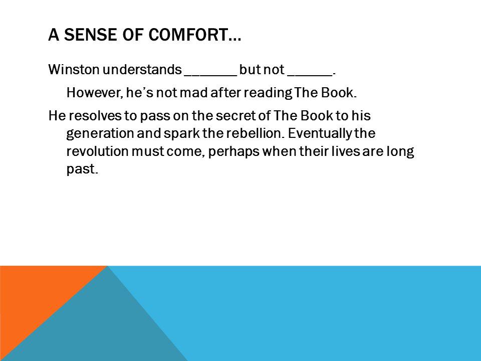 A sense of Comfort…