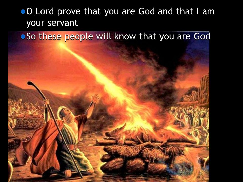 O Lord prove that you are God and that I am your servant