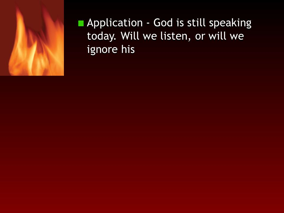Application - God is still speaking today