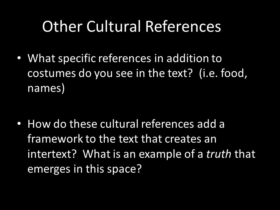 Other Cultural References
