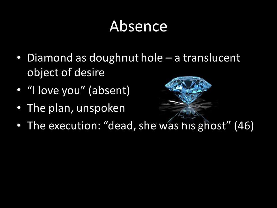 Absence Diamond as doughnut hole – a translucent object of desire