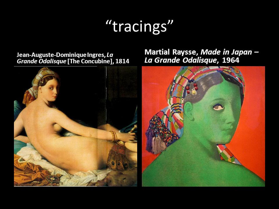 tracings Martial Raysse, Made in Japan – La Grande Odalisque, 1964