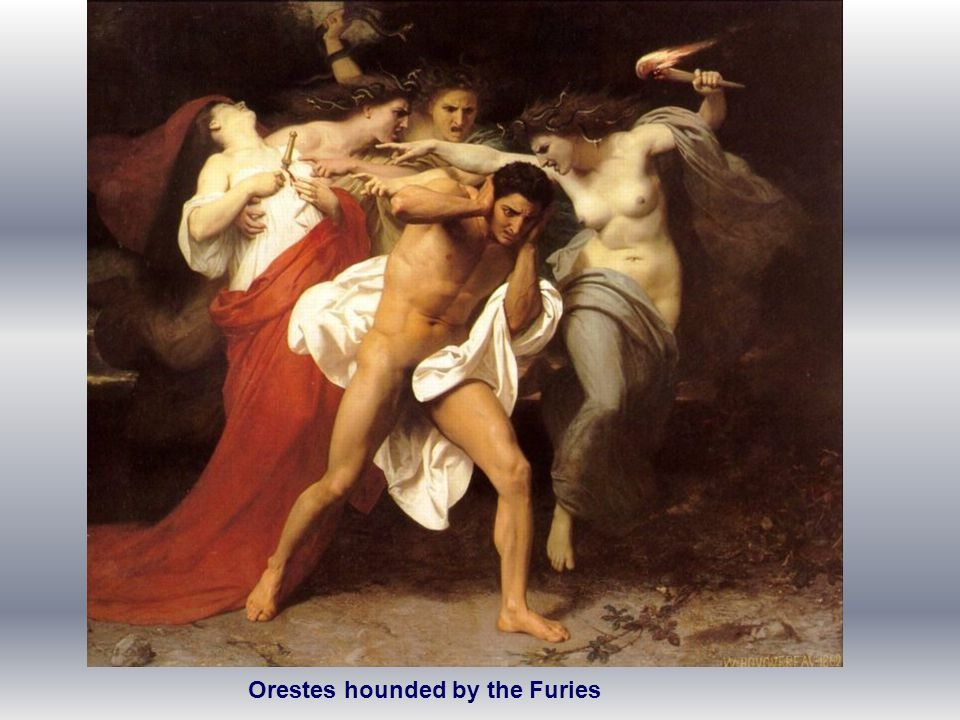 Orestes hounded by the Furies