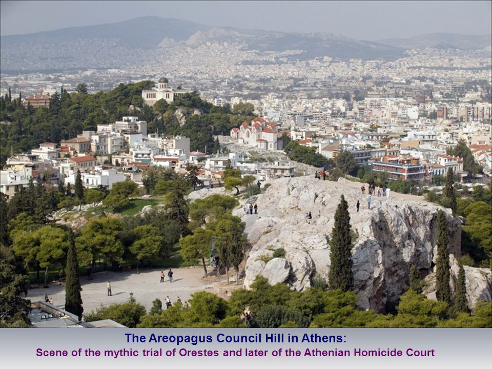 The Areopagus Council Hill in Athens: