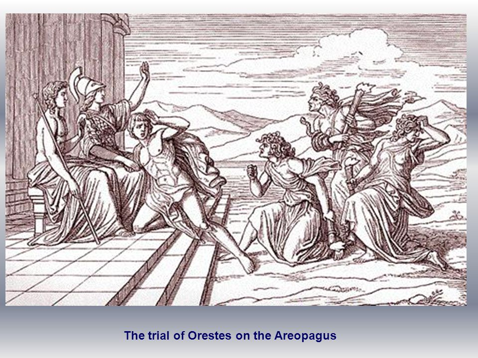 The trial of Orestes on the Areopagus