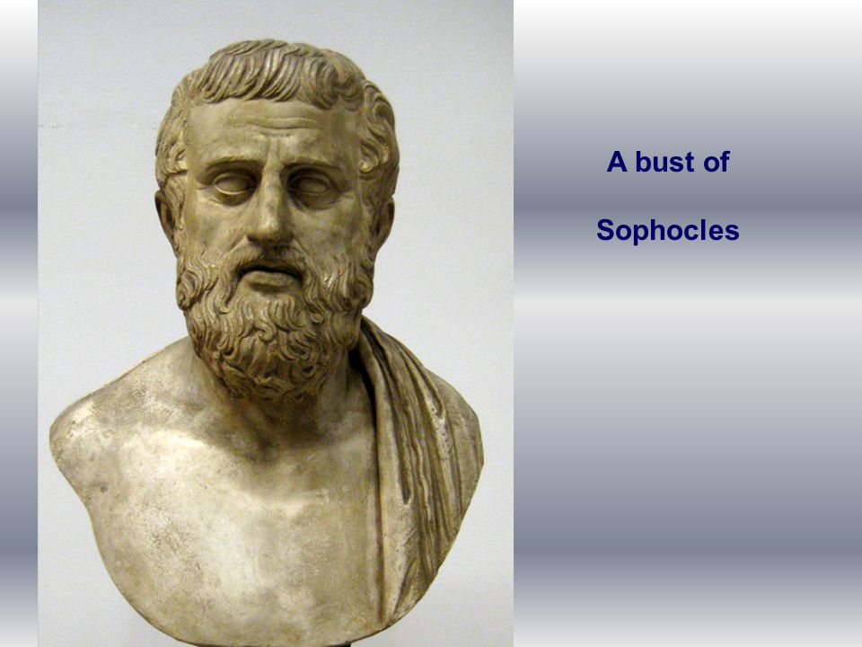 A bust of Sophocles