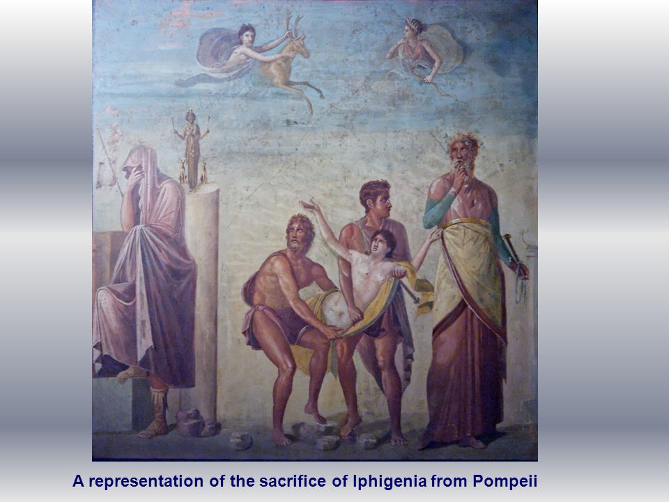 A representation of the sacrifice of Iphigenia from Pompeii
