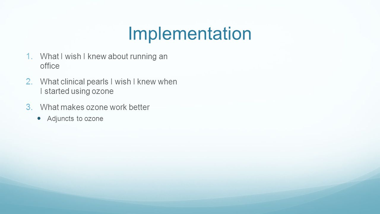 Implementation What I wish I knew about running an office