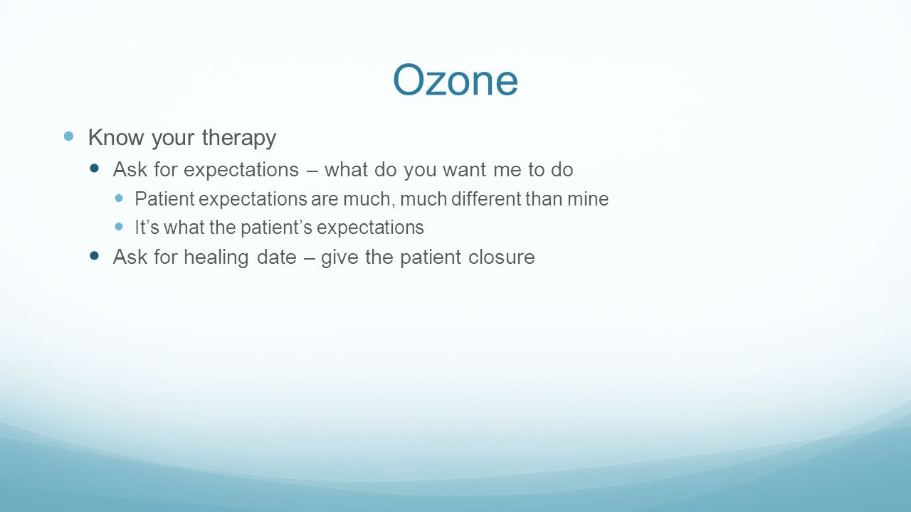 Ozone Know your therapy