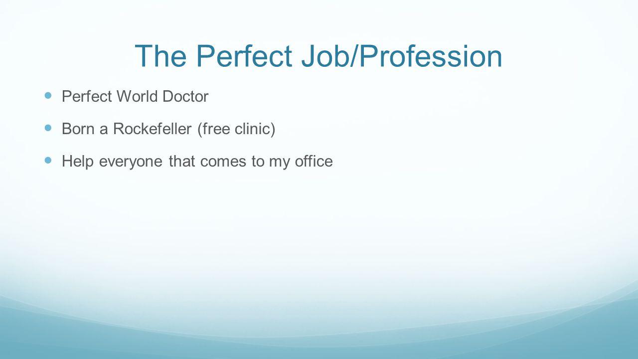 The Perfect Job/Profession