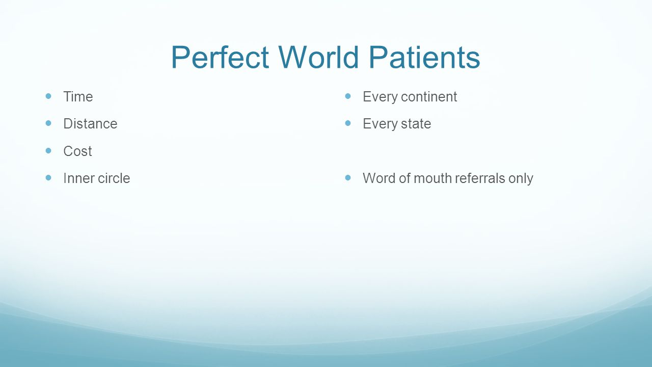 Perfect World Patients