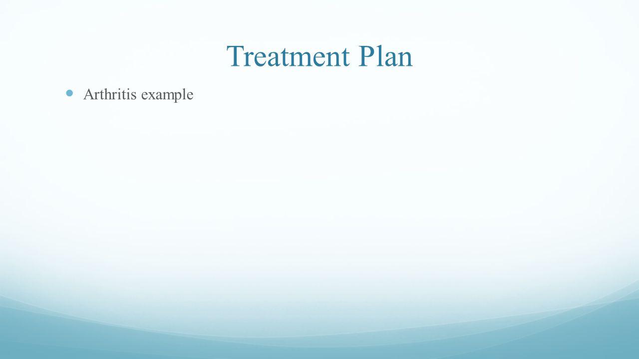 Treatment Plan Arthritis example