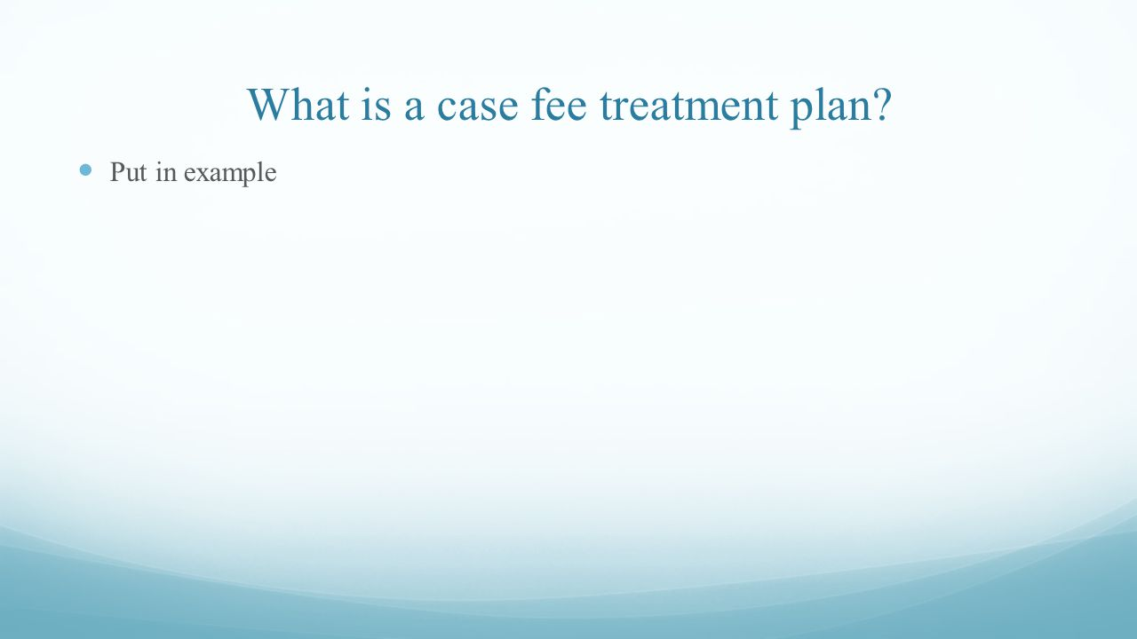 What is a case fee treatment plan