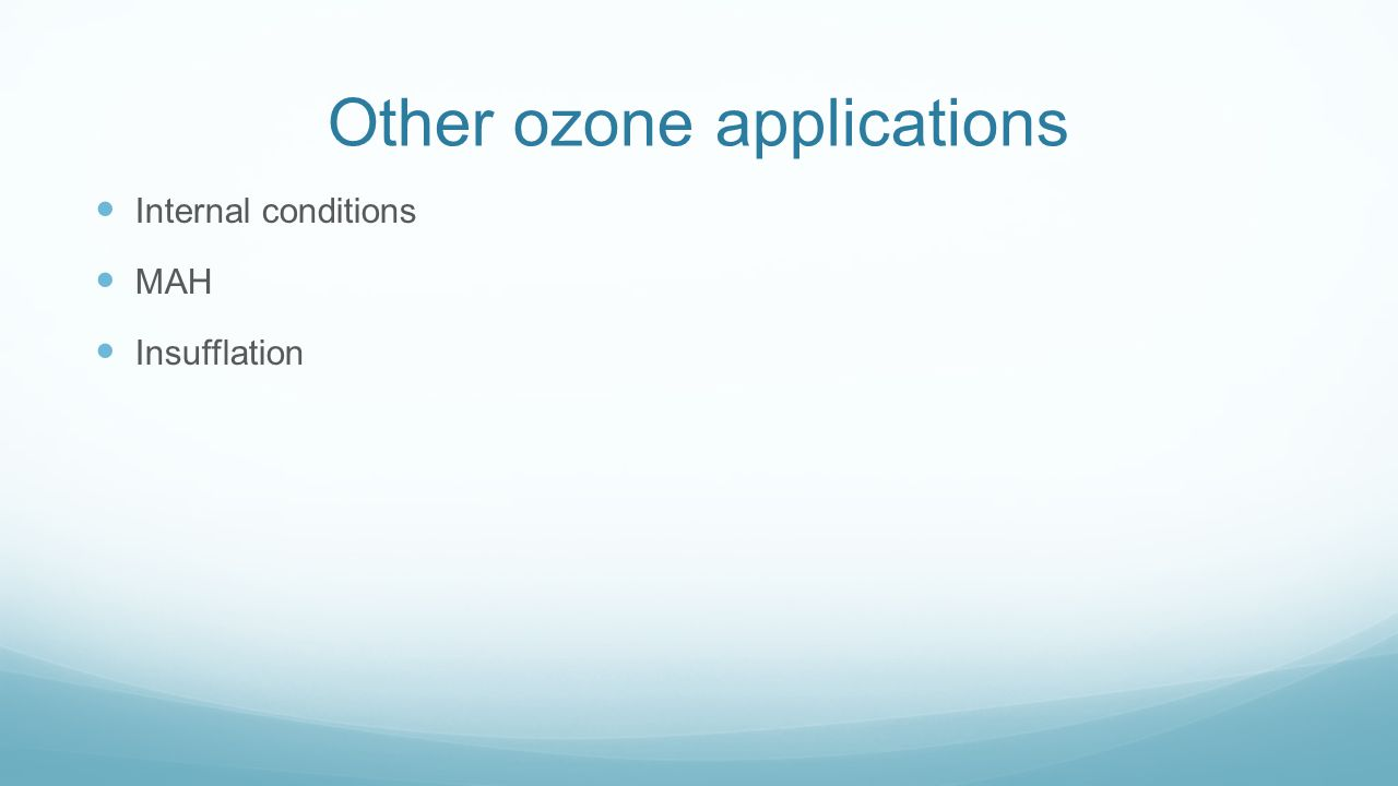 Other ozone applications