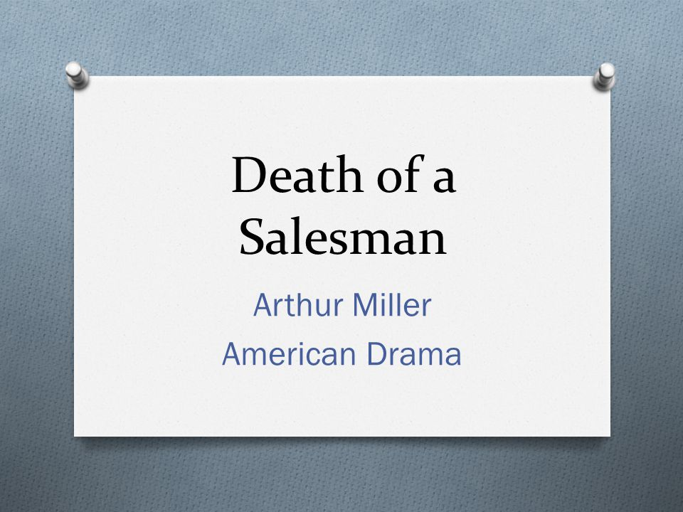 Arthur Miller American Drama