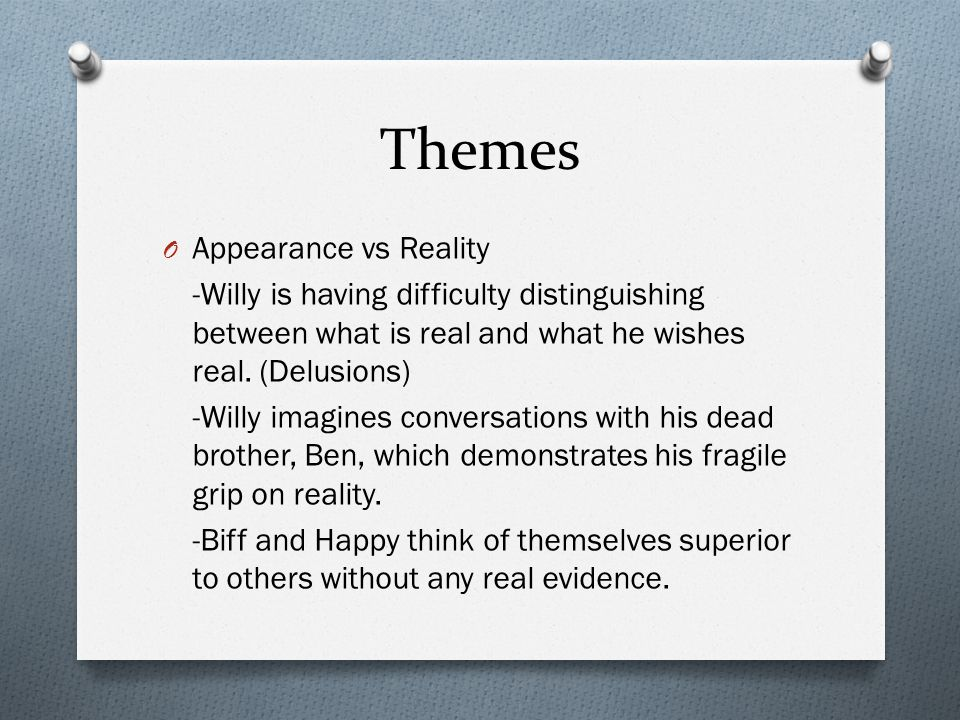 Themes Appearance vs Reality
