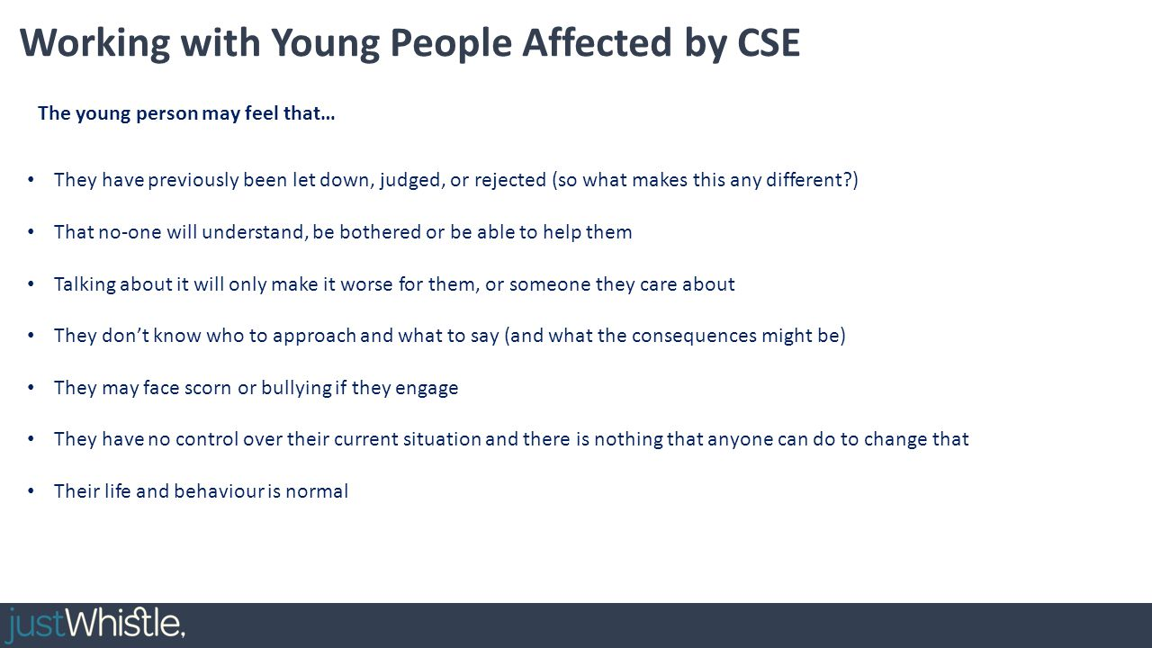Working with Young People Affected by CSE