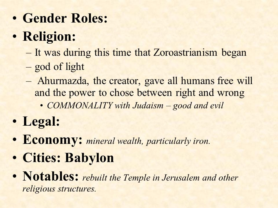 Economy: mineral wealth, particularly iron. Cities: Babylon