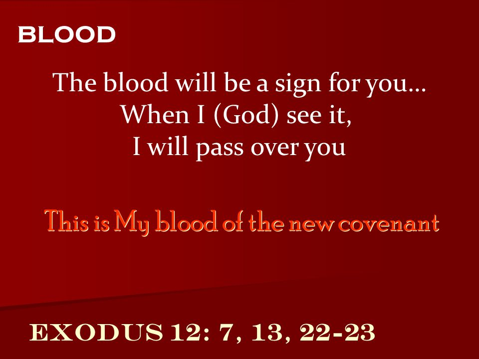 The blood will be a sign for you…