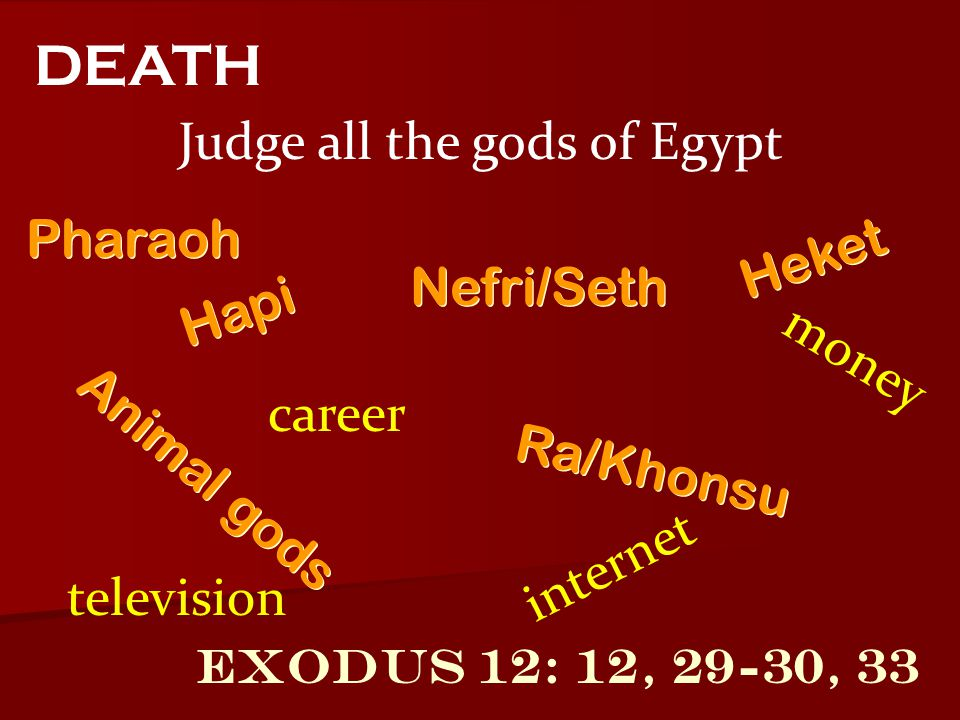 Judge all the gods of Egypt