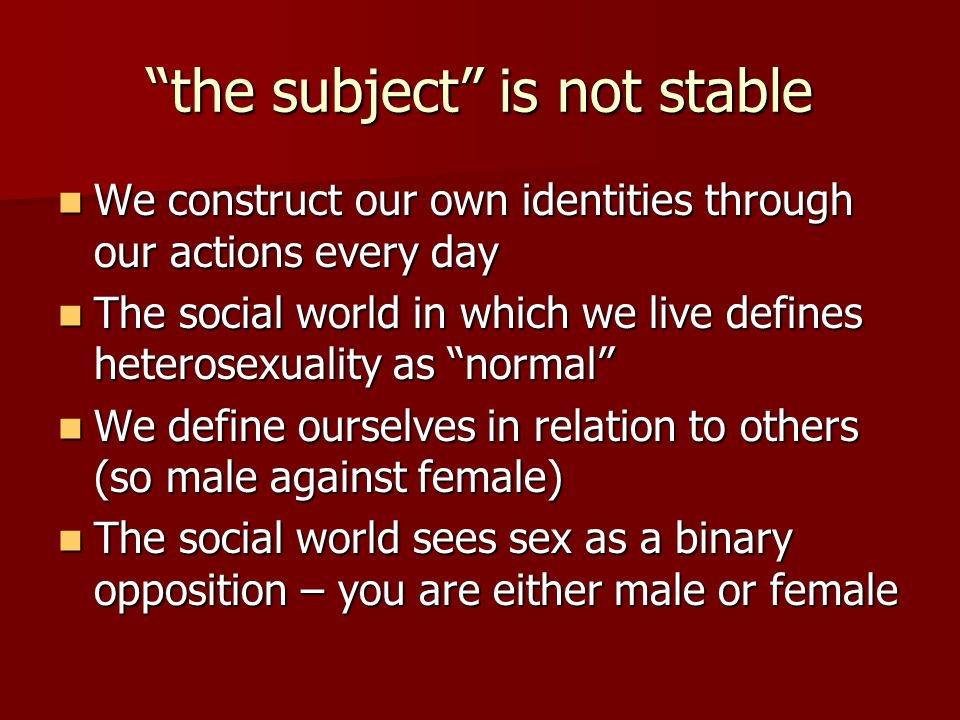 the subject is not stable