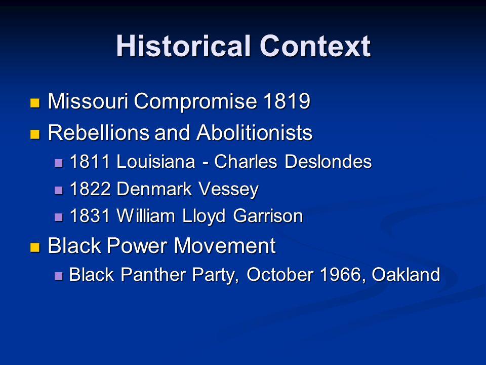 Historical Context Missouri Compromise 1819