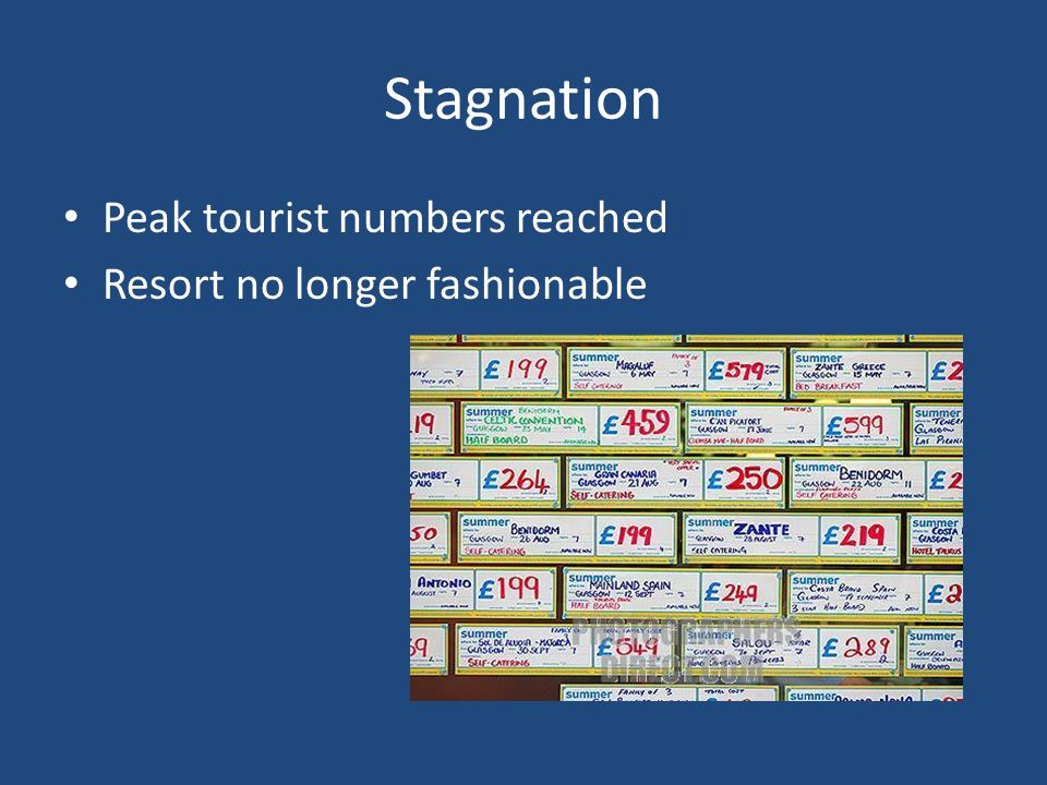 Stagnation Peak tourist numbers reached Resort no longer fashionable