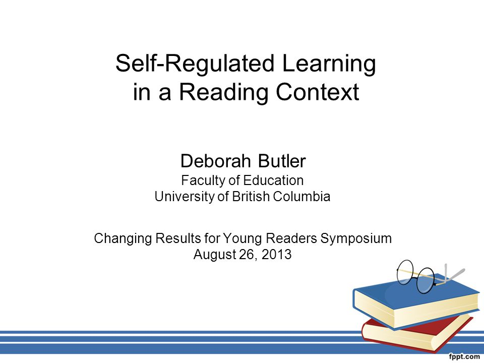 Self-Regulated Learning in a Reading Context