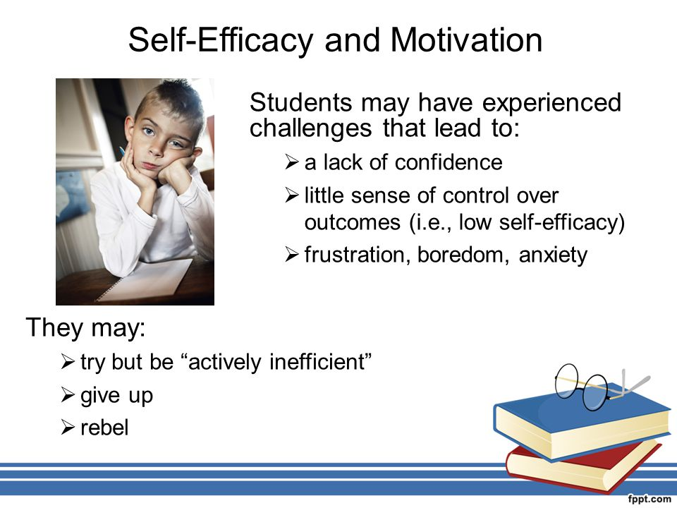 motivation and self efficacy 1 introductionit is a common belief that people with high levels of self- efficacy perform tasks.