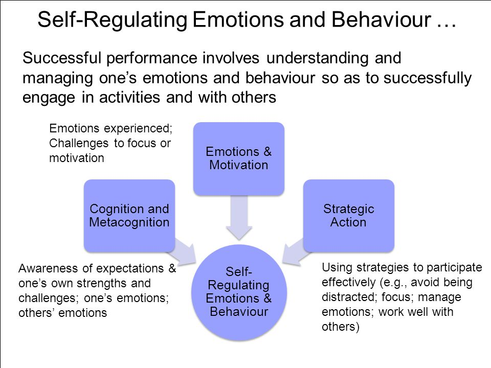 lesson 2 effects of self regulated Self-regulation, ego depletion, and motivation roy f baumeister1 and kathleen d vohs2 1florida state university 2university of minnesota abstract motivation is underappreciated in self-regulation theories (as is true in social.