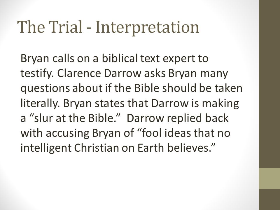 The Trial - Interpretation