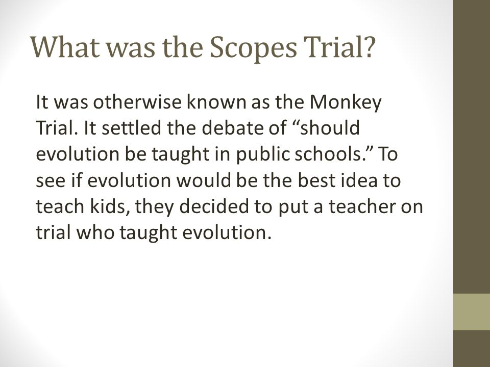 What was the Scopes Trial