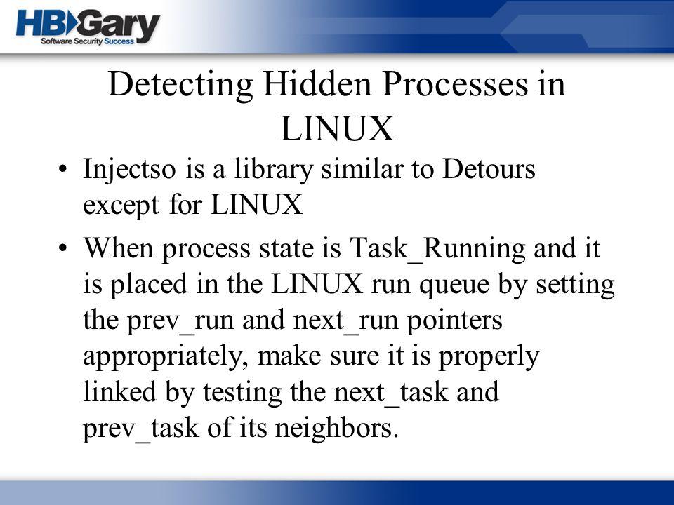Detecting Hidden Processes in LINUX
