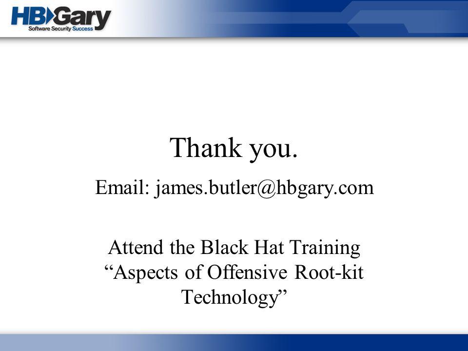Email: james.butler@hbgary.com