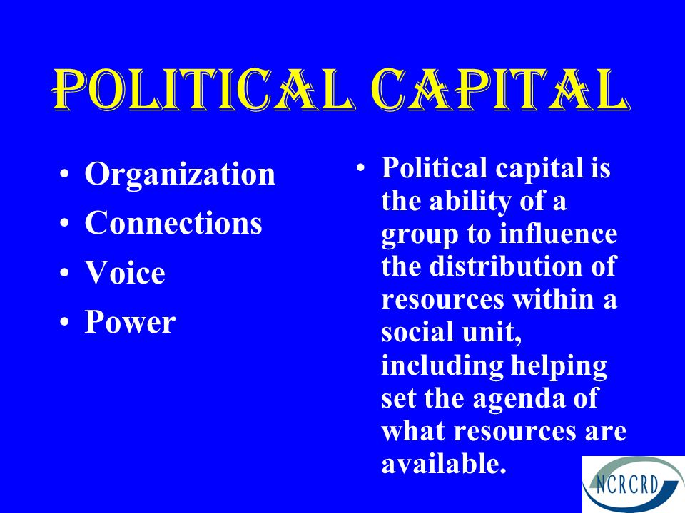 Political capital Organization Connections Voice Power