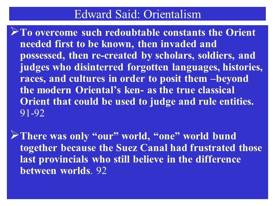Edward Said: Orientalism
