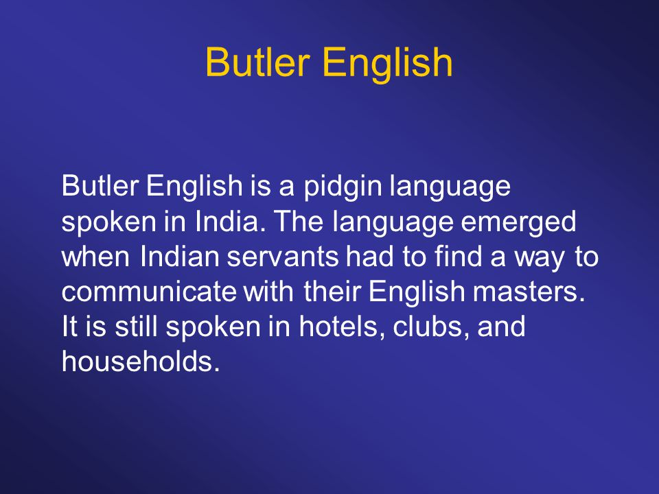Butler English