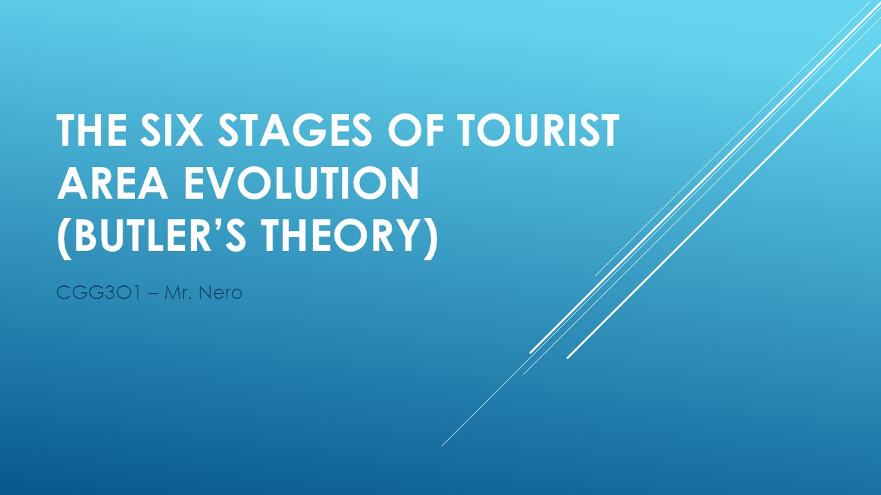 The Six Stages of Tourist Area Evolution (Butler's Theory)