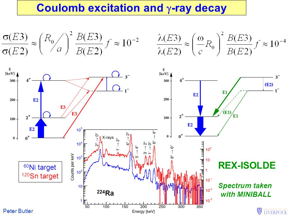 Coulomb excitation and g-ray decay
