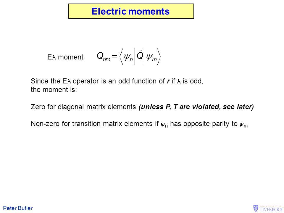 Electric moments El moment