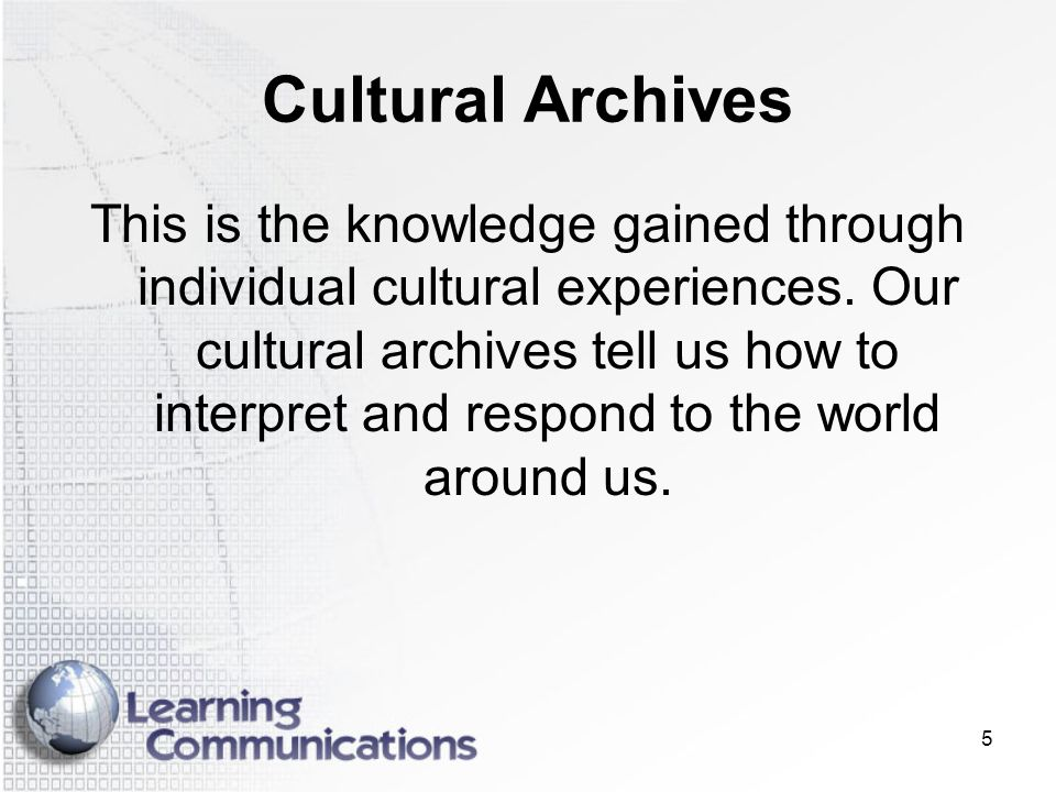 Cultural Archives