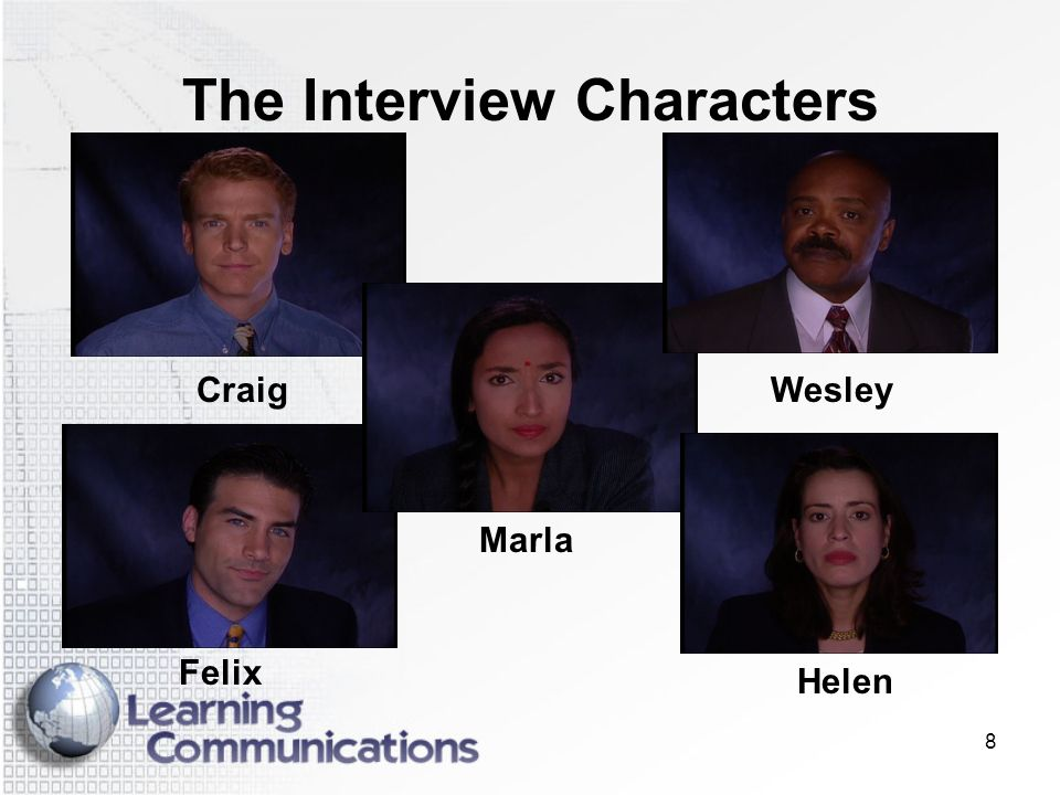 The Interview Characters