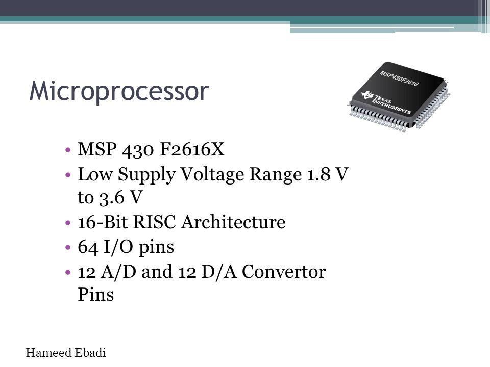 Microprocessor MSP 430 F2616X Low Supply Voltage Range 1.8 V to 3.6 V