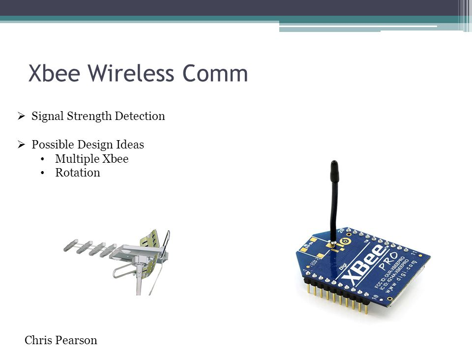 Xbee Wireless Comm Signal Strength Detection Possible Design Ideas